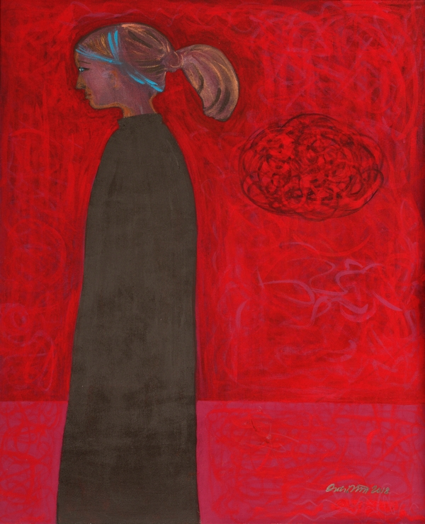 Leaving the Hard Feelings Behind | 57x68 | tempera, akryyli | 1200 € (canvas, kehys musta)